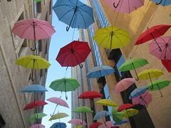 (Ferencdiak) Tags: umbrellas color sky street utca ernyők színes colors