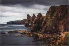 Dark Towers (Augmented Reality Images (Getty Contributor)) Tags: johnogroats nisifilters benro calm canon cliffs clouds duncansbystacks landscape longexposure nature rocks scotland seastacks seascape summer water