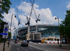 New Spurs stadium under construction, Tottenham, North London, July 2018 (sbally1) Tags: whitehartlane spurs tottenham tottenhamhotspur football london northlondon stadium construction premierleague harrykane epl londonfootball sportsstadium footballground highroad