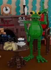 Shercroak Holmes (Space Glove) Tags: lego ldd frog toad detective