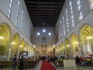 Nef, basilique gothique Santa Chiara (XIVe), via Benedetto Corce, Naples, Campanie, Italie.