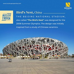 """The Beijing National Stadium, also called """"The Bird's Nest"""" was designed for the 2008 Summer Olympics. The design was initially inspired from a study of Chinese ceramics.   #Trivia #Structure #Construction  #Kerala #Kochi #India #LuxuryHomes #Architecture (nucleusproperties) Tags: structure life kochi elegant style kerala luxurylife realestate lifestyle india luxury trivia apartment nature architecture luxuryhomes interior gorgeous design elegance environment beauty facts building view funfact city construction atmosphere home"""