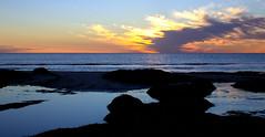 Largs Bay Beach Sunset (|Sarah|) Tags: largsbay sunset beach photography winter australia seascape southaustralia yellow orange canon1200d