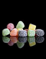 2018 Sydney: Jubes! (dominotic) Tags: 2018 food jubes jellies lolly confectionery sugar blackbackground reflection yᑌᗰᗰy foodphotography sydney australia
