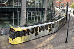 MM 3010 and 3003 @ Manchester Piccadilly station (ianjpoole) Tags: manchester metrolink bombadier flexity swift m5000 3003 3010 working service from piccadilly bury interchange