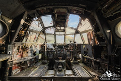 War Planes, France (ObsidianUrbex) Tags: abandoned digitalphotography photography urbanexploration urbex airplane planes airlines france cockpit