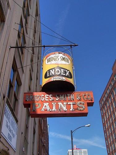 Louisville  Kentucky  - Bridges Smith & Company Paints - Old Neon Sign