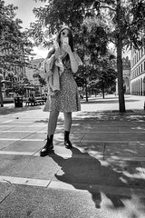 Girl (dlsmith) Tags: manchester mcr ilovemcr candid street stphotografia stphotographia bw byn monochrome monochromatic shotfromthehip girl drmartens boots sunshine