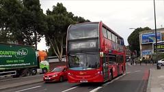 Go-Ahead London Central EH11 SN61DAU   171 to Bellingham, Catford Bus Garage (Unorm001) Tags: sn61 dau 171 go ahead red london double deck decks decker deckers buses bus routes route diesel hybrid electric dieselelectric battery batteryelectric hybridelectric