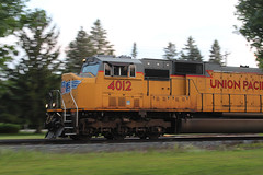 Pointed Towards Point (view2share) Tags: unionpacific up newrichmond wisconsin wi cn canadiannational deansauvola emd electromotivedivision engine sd70m wings stcroixcounty westernwisconsin track trains transportation train tracks transport trackage trees freight freighttrain siding sidetrack summer august72018 august2018 august 2018 516 l516 cn516 cnl516 eastbound motion locomotive up4012