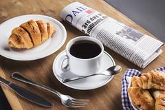 Morning Coffee [2/4] (Mahmoud Lashin) Tags: food commercial alexandria egypt studio indoor colours colourful sweet dessert breakfast fork plate coffee drink