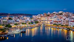 Agios Nikolaos - 1884 (LeePellingPhotography.co.uk) Tags: greece nikolaos agios crete sunset bluehour blue hour travel holiday vacation lake voul voulismeni redbull diving
