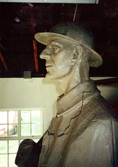 The full-size preliminary model of the statue in the sculptor's studio