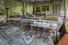 Pripyat Classroom (Frank C. Grace (Trig Photography)) Tags: prypyat kyivskaoblast ukraine ua chernobyl pripyat abandoned urbex disaster fallout nuclear powerplant power urbanexploration russia ghosttown haunted paranormalactivity decay rusty crusty nuclearreactor reactor radiation exclusionzone forbidden zone nuclearcity powerstation ukrainebelarusborder sovietunion boarder при́пять peacefulatom ukrainebelarus hdr highdynamicrange on1pics frankcgrace trigphotography 1986 accident lightwatergraphitemoderatedreactor graphite uranium stationblackout safetytest safety objectshelter ussr nikon d850 cancer radiationpoisoning level7 rbmk reactor4 26april1986