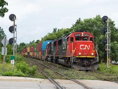 Standards (Joseph Bishop) Tags: sd60 emd standard cndundassubdivision hardyroad trains train track tracks railfan r railroad railway rail rails signals cn 5470