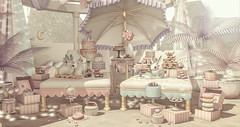Sweet Dreams are Made of This (Allie (Lilly Sunflower)) Tags: mossmink disorderly dustbunny halfdeer ik whatnext secondlife sl allie decor homeandgarden pastel bunny candy cake