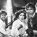 Mark Hamill, Carrie Fisher and Harrison Ford behind the scenes in Star Wars (1977)