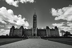 Parliament Building (exposphotography) Tags: parliament building canada canadian ottawa capital city travel blackandwhite exposphotography expos fuji fujifilm xt20 12mm tower peace