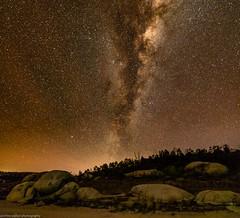 leslie dam nightscape (andrew.walker28) Tags: stars starscape night sky long exposure rocks granite