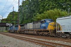 CSX 600 (Dan A. Davis) Tags: csx freighttrain locomotive train q438 cw44ac cw60ac sd70ac woodbourne pa pennsylvania langhorne