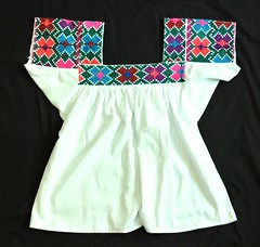 Mexican Embroidered Blouse Textiles (Teyacapan) Tags: mexico textiles blouses blusa nahua embroidered huasteca ropa clothing