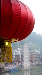 Red lantern at ancient town in Hunan, China (phuong.sg@gmail.com) Tags: abstract antique asia asian background bright buddhism buddhist bulb carnival celebrate celebration china chinatown chinese colorful culture decor decoration east ethnicity event festival fortune glow golden hang hanging holiday lamp lantern light lucky night oriental ornament paper prayer red symbol temple tradition traditional vivid