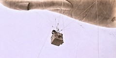 Navy observer in the basket of observation balloon Fortress Monroe, VA Apr. 1918 NARA111-SC-009778-ac (SSAVE over 11 MILLION views THX) Tags: balloon blimp airship ww1 worldwari usnavy coastartilleryschool observationballoon fortmonroe virginia norfolk 1918