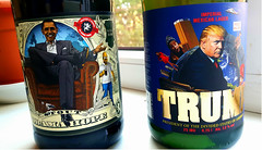 Stout 'Obama Hope' and strong Imperial Mexican Lager 'Trump, President of the Divided States of America' - Ukrainian beer made in Lviv. August 16, 2018 (Aris Jansons) Tags: bottles beer ukrainian stout obamahope lager trump