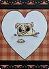 SerenaAzureth_ATC_PugCookie22 (SerenaAzureth) Tags: serenaazureth handdrawn sketch drawing watercolor paint pen atc artist trading card swapbot swap bot pug dog cookie diet pup
