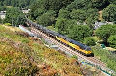 Double Headed Grids At Cornholme. (Neil Harvey 156) Tags: railway 56078 56113 cornholme todmorden copypitline prestondockstanks prestontanks bitumentanks 6e32 class56 colasrail colas grid doubleheaded