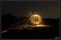 Fire ball (psychosteve-2) Tags: fire sparks spinning ball longtime exposure