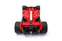 Ferrari SF71H (13) (Noah_L) Tags: lego moc ferrari sf71h red white green car racecar 2018 formulaone formula1 formula noahl italian