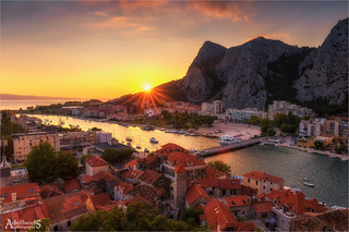 Sunset in Omis, Croatia