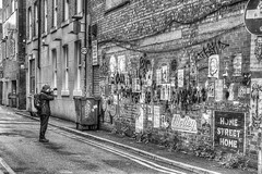 Photographer (dlsmith) Tags: monochromatic manchester mcr northern quarter nq black white candid blackwhite northernquarter blackandwhite bw byn photographer graffiti streetart street