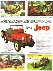 1946 Universal Jeep Ad (aldenjewell) Tags: 1946 willys jeep universal ad