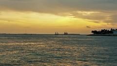 S KW sunset (V-rider) Tags: rhm ralph vrider97 jane wife keywest honeymoon floridakeys keys florida travel bike adventure sail hobiecat catamaran sunset boats