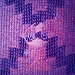 Looking out the window. She is observing. (Gudzwi) Tags: linesymmetry macromondays strumpfhose tights textur texture woven gewebt stoff fabric cloth kleidung clothes durchsichtig transparent versteckt hidden mm hmm figure figur spielzeug toy symmetry symmetrie cross kreuz augen eyes electriclight kunstlicht 7dwf anythinggoesmondays 7dwfmondaysanythinggoesmondays bokeh