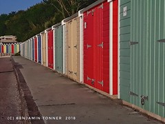 Beach huts (frattonparker) Tags: isleofwight beachhuts niksnapseed frattonparker mobilephone btonner