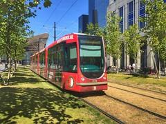 Feyenoord tram (sander_sloots) Tags: feyenoord tram livery ret kruisplein alstom citadis trees bomen rotterdam tramway streetcar football club soccer