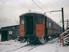 South Shore 205 Randolph St 12-2-78 (jsmatlak) Tags: chicago south shore bend railroad electric interurban train nictd csssb