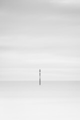 Lonely (Romain Vincent) Tags: sunrise quiberon france longexposure morning alone lonely sea landscape vetical fuji 50140mm