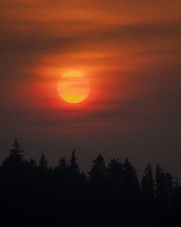 Ness Lake Smokey Sunrise