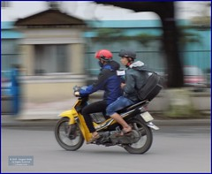 Vietnam, Hue City Scooter 20180212_161450 DSCN3149 (CanadaGood) Tags: asia asean seasia vietnam vietnamese hue traffic scooter motorcycle people person canadagood 2018 thisdecade color colour