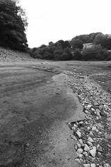 Ruins of Derwent Village, Ladybower    August 2018 (dave_attrill) Tags: derwent village ladybower reservoir ruins low water brickwork stonework site august 2018 bamford peakdistrict nationalpark derbyshire sky landscape tree mountain river