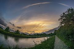 Dawn (chaotic river) Tags: 8mm canal early fisheye lancaster morning samyang bilsborrow england unitedkingdom gb