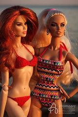 Romina and Jasmina (astramaore) Tags: vanessa perrin astramaore doll dollphotography fashiondoll integritytoys redhead blonde chic beauty glam style sophistiquée sophistiquee edge