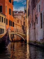 Venice, Late Afternoon, #67 (andertho) Tags: venice venezia italy italia gondola canal olympus omd em1 m43 microfourthirds