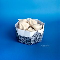 paper bowl (polelena24) Tags: origami box bowl dish onesheet square basket