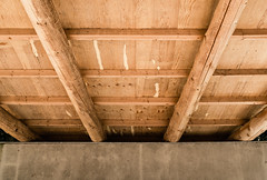 Plywood and Concrete (Poul_Werner) Tags: danmark denmark familie holstebro sirlyngbjerge ceiling family feriebørn loft centraldenmarkregion dk