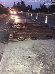 During repair.. (WSDOT) Tags: i5 interstate5 aep wsdot bellingham whatcomcounty samishway concretepanels concretepanelreplacement maintenance preservation highwaypreservation